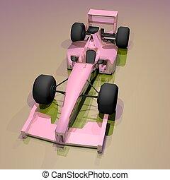 rózsaszínű, autó