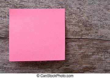rózsaszínű, böllér, képben látható, egy, öreg, wooden asztal
