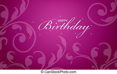 rózsaszínű, boldog születésnapot, kártya
