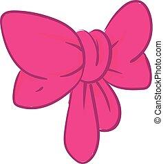 rózsaszínű, clipart, szín, ábra, íj, vektor, vagy