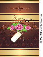 rózsaszínű, csokor, díszítés, agancsrózsák