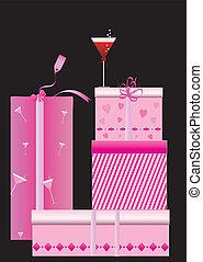 rózsaszínű, dobozok, tehetség