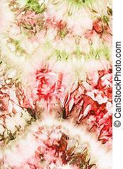 rózsaszínű, elvont, batik, zöld, selyem, kép