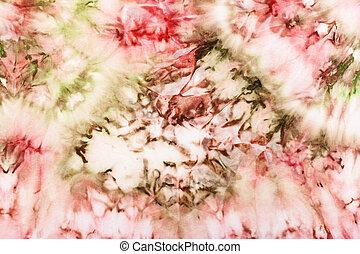 rózsaszínű, elvont, díszítés, batik, zöld, selyem