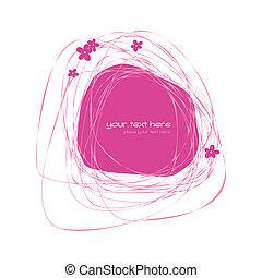 rózsaszínű, elvont, keret