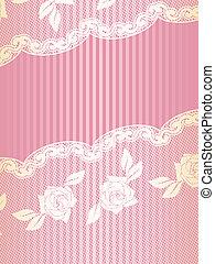 rózsaszínű, függőleges, befűz, arany, francia, háttér
