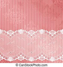 rózsaszínű, fehér, vektor, befűz