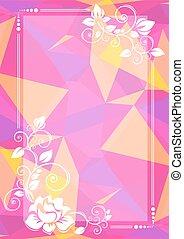 rózsaszínű, floral határ