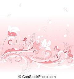 rózsaszínű, floral példa