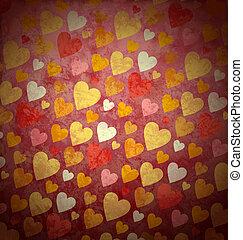 rózsaszínű, grunge, valentines, seamless, gondolat, backround, esküvő, piros, forlove
