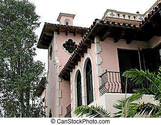 rózsaszínű, hacienda, fehér