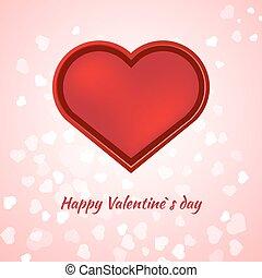 rózsaszínű, kártya, valentines nap, háttér