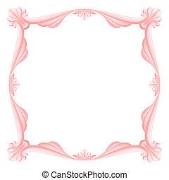 rózsaszínű, keret