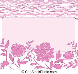 rózsaszínű, keret, menstruáció