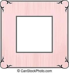 rózsaszínű, keret, tervezés