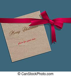 rózsaszínű, kottapapír, karácsony, szalag