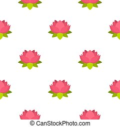 rózsaszínű, lótusz, virág,  seamless, motívum