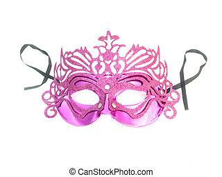 rózsaszínű, maszk, farsang