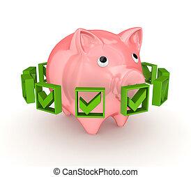 rózsaszínű, mindenfelé, zöld, falánk, megjelöl, ketyegés, bank.