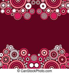 rózsaszínű, modern rajzóra, vektor