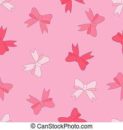 rózsaszínű, motívum, seamless, íj, vektor, részvény