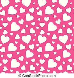 rózsaszínű, motívum, valentines, seamless, háttér, piros, fehér, nap