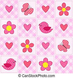 rózsaszínű, motívum