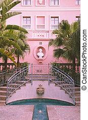rózsaszínű, nemesi kúria