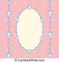 rózsaszínű, ovális, kártya