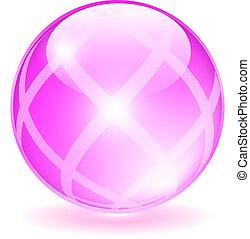 rózsaszínű, pohár, gömb