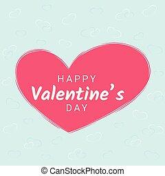 rózsaszínű, szív, gratuláció, blue cégtábla, háttér., kedves, transzparens, nap