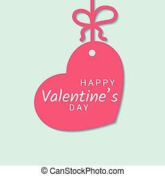 rózsaszínű, szív, gratuláció, kék, íj, háttér., kedves, felakaszt cégtábla, transzparens, nap, szalag