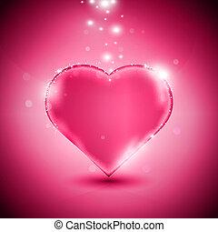 rózsaszínű, szív