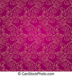 rózsaszínű, szüret, seamless, háttér példa, virágos