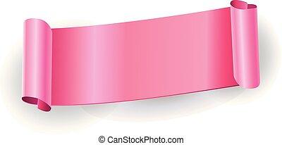 rózsaszínű szalag, transzparens