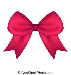 rózsaszínű, tehetség, elszigetelt, íj, white szalag