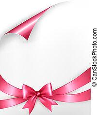 rózsaszínű, tehetség vonó, vektor, háttér, ribbons., ünnep