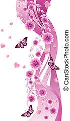rózsaszínű virág, díszítés
