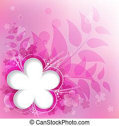 rózsaszínű, virágos, háttér