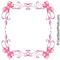 rózsaszínű, white háttér, íj