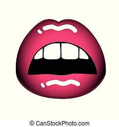 rózsaszín háttér, ajkak, száj, női, szexi, fehér, nyílik