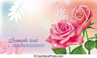 rózsaszín rózsa, kártya