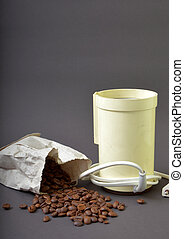 rôti, broyeur, café