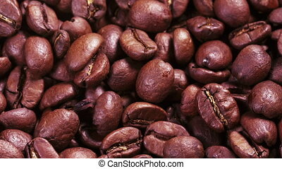rôti, café, tourner, haricots