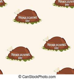 rôtir turquie, modèle, jour, thanksgiving