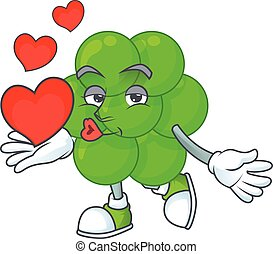 röd, aureus, design, hjärtan, staphylococcus, underbar, ...