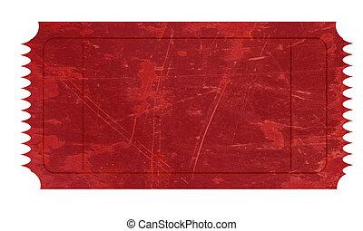 röd, biljett
