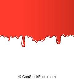 röd fond, blodig