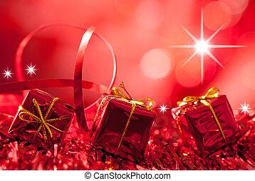röd, jul, bakgrund