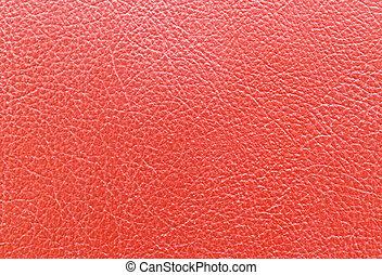röd, läder
